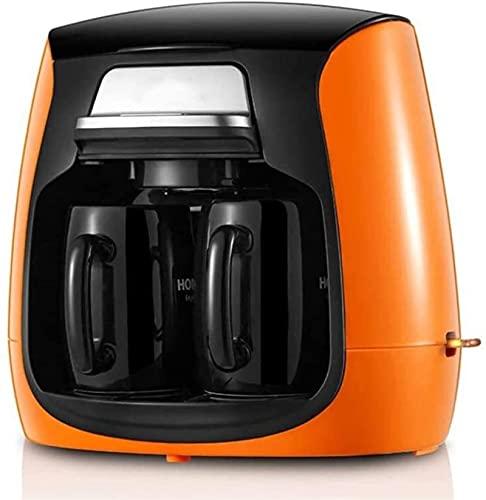 Maszyny do kawy Expresso Mały automatyczny automatyczny ekspres do kawy, mini ekspres do kawy, przenośny kubek ceramiczny, (Color : Orange)