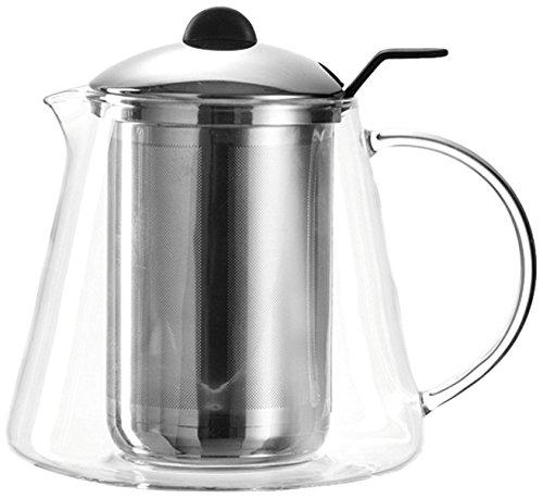 Leonardo Tisana Tee-Bereiter, handgefertigte Tee-Kanne, Glas-Kanne mit Teesieb-Einsatz, 1600 ml, 025535