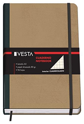 Dohe Vesta Nature - Cuaderno cuadriculado, A5