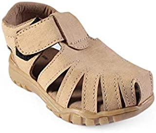CHIU Beige Five Strap Pattern Sandal for Kids Boys