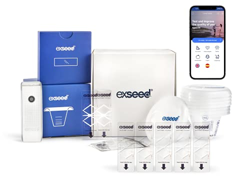 ExSeed – Home Sperm Test for Total Motile Sperm Count Assessment, Effective Predictor of Male Fertility, Male Fertility Test Kit as Accurate as Lab Tests (Smartphone Use) (10 - Test)