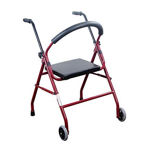 DGEMF Rollstuhl Ergonomisch mit Rädern Leichte Gehhilfe Rollator Ältere Behinderte Transferhilfe Rehabilitationsübung