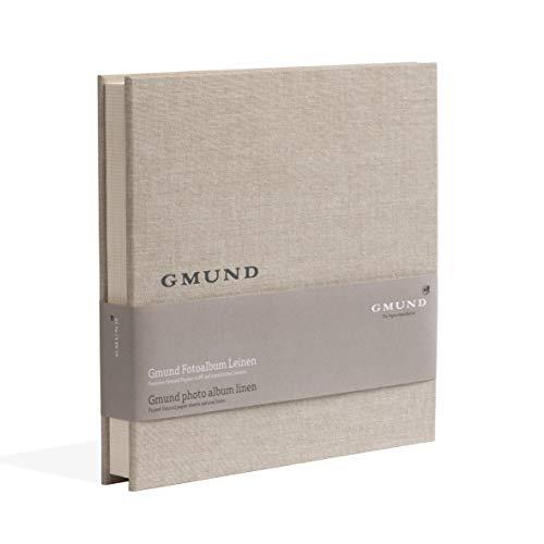 Gmund Papier Fotoalbum Leinen 50 Seiten (Fotobuch 25 x 25 cm, Bilder Format 9 x 13, 10 x 15)