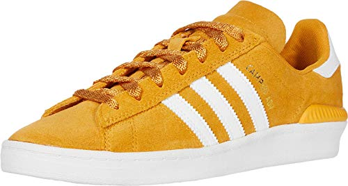 adidas Skateboarding Campus ADV Tactile Yellow F17/Footwear White/Gold Metallic Men's 9.5, Women's 10.5