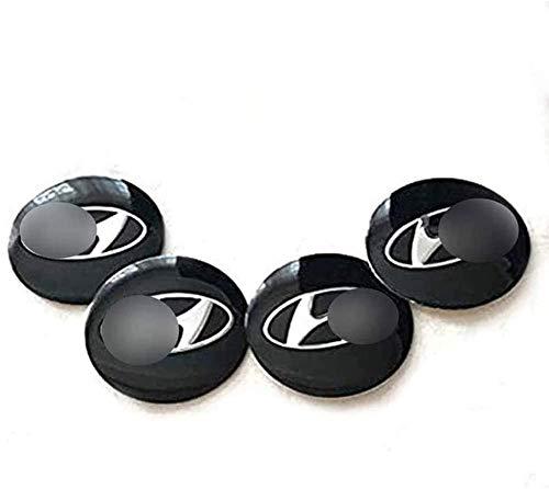 4 Piezas Tapas centrales, para Hyundai Coche Central Llanta Rueda Cubre Embellecedor Insignia