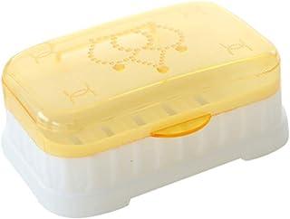 ソープディッシュ 旅行プラスチック石鹸の箱のホールダーの携帯用石鹸の容器箱の世帯の浴室 シャワーソープディッシュ (色 : オレンジ, サイズ : Free size)