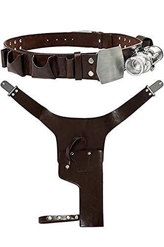 Joyplay Disfraz De Pelicula para Adultos Cinturon con Funda De Hebilla Accesorios De Cinturon De Cuero Accesorios De Disfraces De Halloween, XL