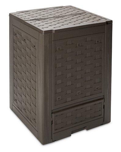 Toomax Composteur de jardin 300 L, Polypropylène, Rattan, Marron - ART650COL
