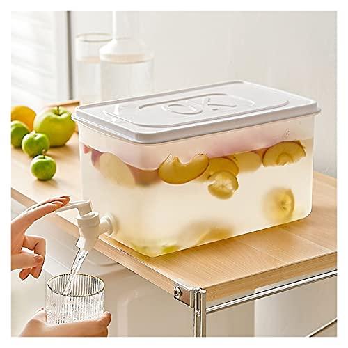 Hervidor frío con Grifo, dispensador de Bebidas de Gran Capacidad de 5 l, Barril de Agua para el hogar, Tetera portátil para Frutas para Uso Diario y al Aire Libre