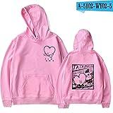 2019 Harajuku Oversized Hoodies Sweatshirts Women/Men Winter Bangtan Boys Moletom K-pop Clothes 4XL,Pink,4XL