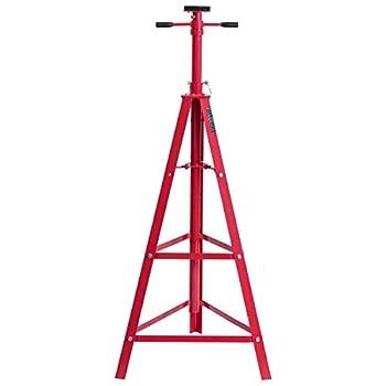 Toolsempire Underhoist Tripod Stand 2 Ton High Lift Jack Stand Reach Under Hoist Stand Heavy Duty Steel Underhoist Support Lift Jack Stand