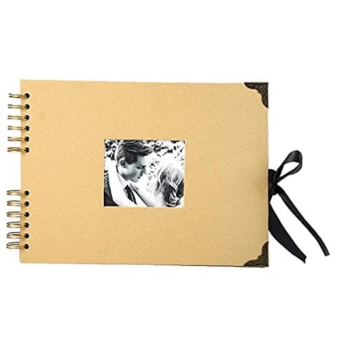 Libro De Scrapbook Álbumes De Fotos 80 Páginas Brown Grueso Kraft Papel Scrap Libro para Proyectos De Artesanía Álbumes De Fotos