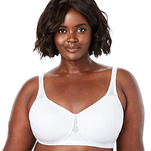 Comfort Choice Women's Plus Size Stay-Cool Wireless T-Shirt Bra - 54 DDD, White