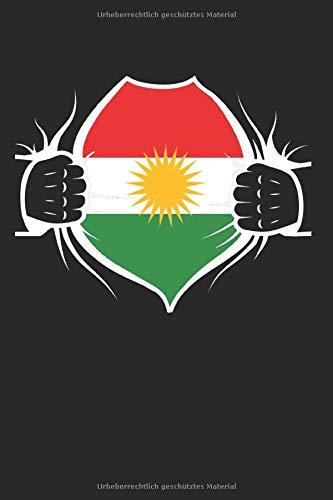 Kurdistan Kurde Kurden: Kurdistan & Deutschland Notizbuch 6'x9' Kurdische Flagge Geschenk für Kurdisch & Kurden