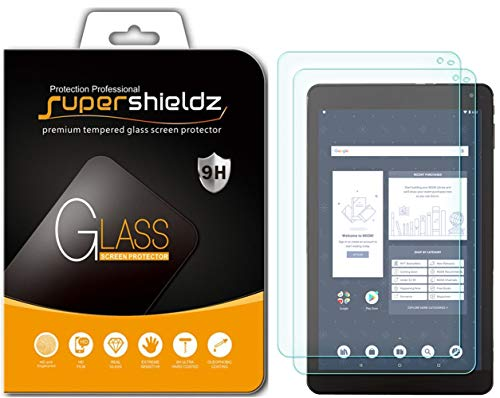 (2 Pack) Supershieldz for Barnes & Noble Nook Tablet 10.1 inch (BNTV650) Screen Protector, (Tempered Glass) Anti Scratch, Bubble Free