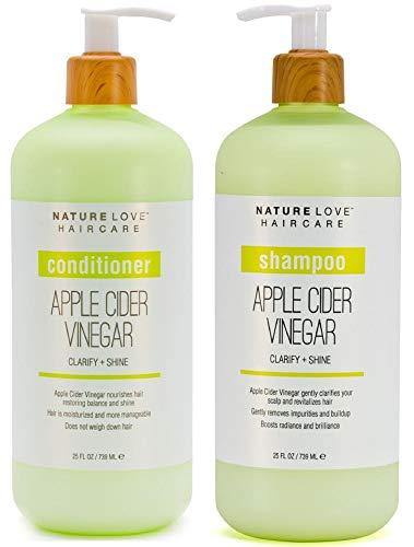 Price comparison product image Nature Love Apple Cider Vinegar Shampoo and Conditioner Duo
