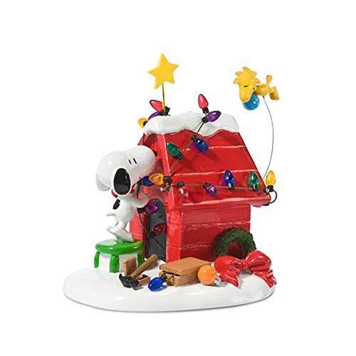 Department 56 Peanuts Christmas Decorations, Snoopy's Dog House