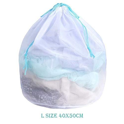 WOOAI Polyester Rits Waszak Waszak Waszak Bra Sokken Ondergoed Tas Wasbak Multisize Home Opslagmachine Beschermer, 40x50cm blauw