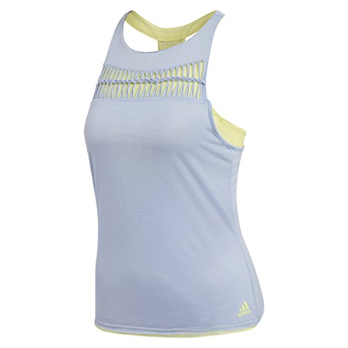 adidas Damen, Tank-Top Hellblau, Limette, S Oberbekleidung, S