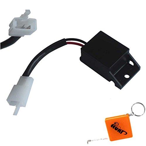 HURI Lastunabhängiges LED Blinkrelais Blinkg Relais passend für CB 600 / F Hornet 98-01 PC34 PC36, PC35 99-07 Blinkergeber Relay