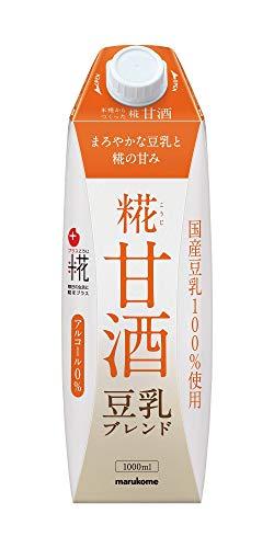 マルコメ プラス糀 米糀からつくった糀甘酒LL 豆乳ブレンド 【国産米・国産豆乳100%使用】 1000ml×6本