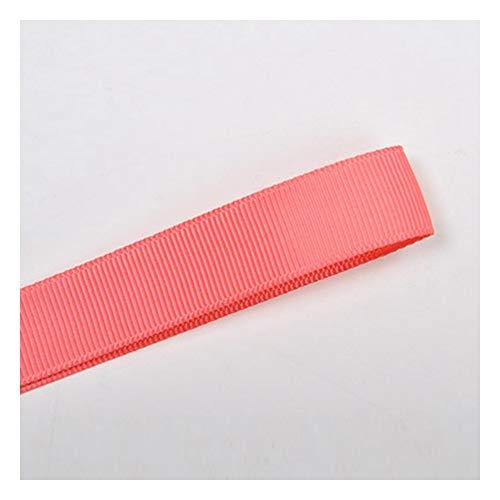 JIWEIER Cinta de poliéster acanalada de color sólido 38 mm Material de ropa interior rojo DIY Craft (tamaño: 243)