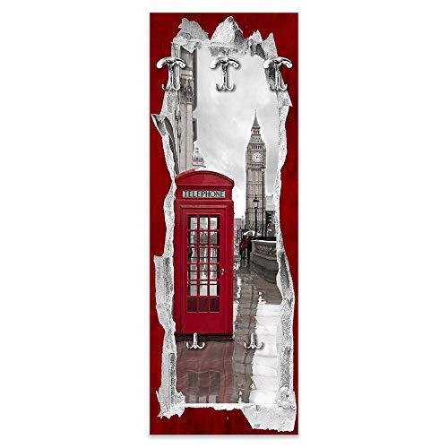 Lupia Appendiabiti da Parete 49X139 cm View of The Telephone Box