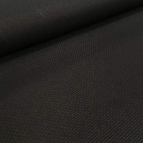Kt KILOtela Tela panamá para Punto de Cruz - Tela Aida de algodón - 5,5 Puntos cm - 14 Cuentas - Retal de 50 cm Largo x 150 cm Ancho | Negro ─ 0,50 Metro