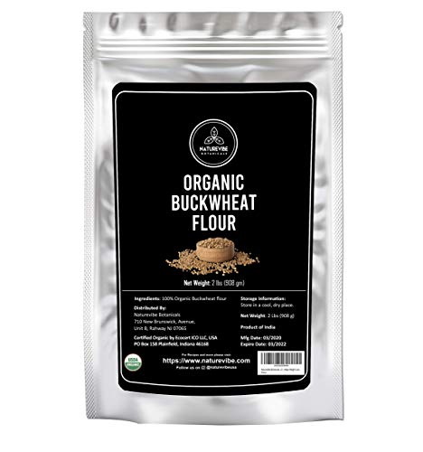 Naturevibe Botanicals Buckwheat Flour (2lbs) | Gluten Free & Non GMO | Helps Weight Loss. [Packaging may vary]