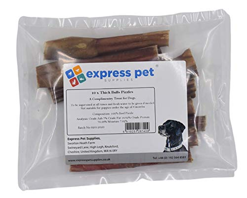 Express Pet Supplies 10 x 12cm (5-6') Inch Thick Bulls PIZZLES Bully Pizzle...