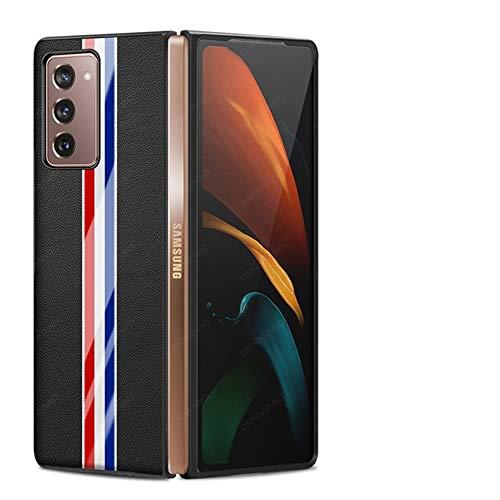 BellaHülle Hülle für Samsung Galaxy Z Fold 2 5G [Echtes Leder & PC-Material] [Superdünn] [Voller Schutz] Handyhülle Kompatibel mit Samsung Galaxy Z Fold2 5G(Schwarz)