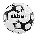 Wilson Pentagon, WTE8527XB05 Pallone da Calcio, Taglia 5, Struttura a 30 Pannelli, Imbottitura in PVC, Bianco/Nero