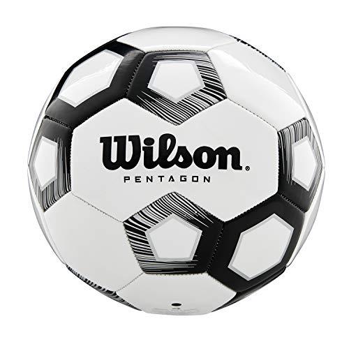 Wilson Men's Pentagon Ball for Soccer, Black, Size 5