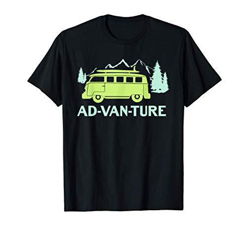 Funny Camper Van Life Gift - Hiking Vacation - Ad-Van-Ture Camiseta