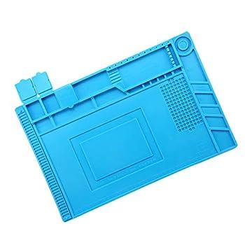 Silicone Repair Mat,Bencisy Heat Insulation Silicone Repair Mat Heat-Resistant Soldering Station Mat for BGA and Gun Soldering Iron Workbench Cell Phone Laptop Repair