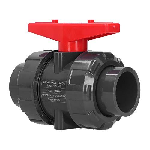 Cuque Válvula de tubería, válvula de Bola de PVC Funcional con Alto Rendimiento para riego para Piscinas para Tanques
