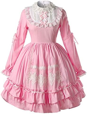 Loli Miss Women Vintage Gothic Classic Sweet Princess Lolita Dress Cosplay Costume for Girl product image