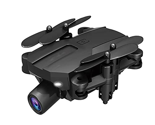 FDSGEWW Mini Drone Telecomandato Pieghevole con Doppia Fotocamera 4K Trasmissione di Immagini in Tempo Reale Quadcopter Pressione dell'Aria Ad Altezza Fissa Selfie Nero