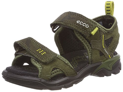 ECCO Unisex-Kinder Biom Raft Peeptoe Sandalen, Grün (Grape Leaf/Black/Grape Leaf), 30 EU
