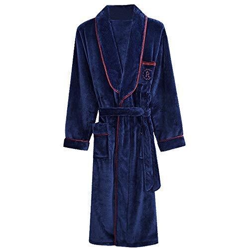 KANJJ-YU Pareja unisex caliente del traje de la franela del otoño y del invierno gruesa polar de coral de manga larga pijama Inicio Servicio de hombres y de mujeres super suave Albornoz Homewear, Muje