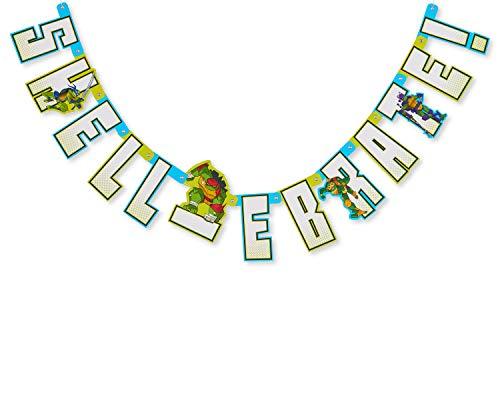 American Greetings Teenage Mutant Ninja Turtles (TMNT) Party Supplies, Birthday Party Banner