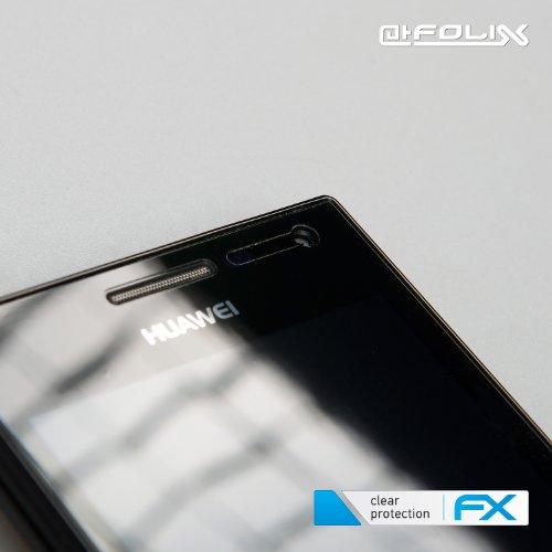 atFoliX Huawei Ascend W1 Displayschutzfolie (3 Stück) - FX-Clear, kristallklare Premium Schutzfolie - 6