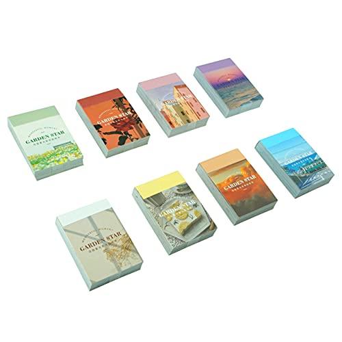 WJGJ Washi Sticker Set (8 Set, 400 Stück) für Journaling, Scrapbooking Tagebuch Planer Album Tagebuch, Notebook, Kartenherstellung Laptop Journaling DIY Arts and Crafts