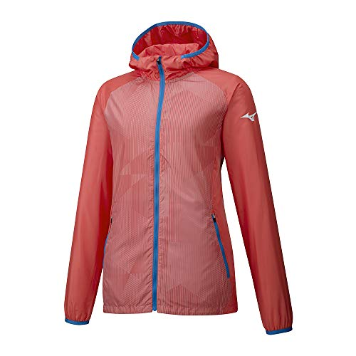 Mizuno Printed Hoody Jacket Femme, Corail Sexy, XS