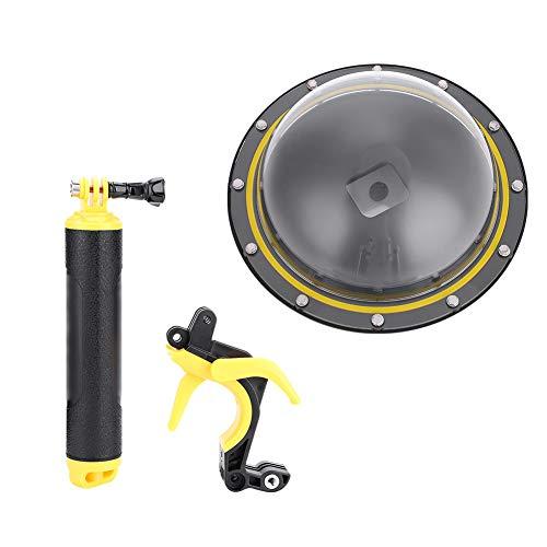Mugast Dome Port Onderwatercamera-behuizing voor GoPro Hero 5/6/7 van PC PMMA-materiaal voor duiken, klimmen, surfen en luchtopnames