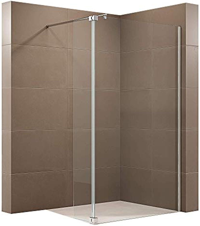 Duschabtrennung Walk-In-Dusche mit Spritzschutz NT109 8mm ESG-Glas, Breite Walk-In 1000mm