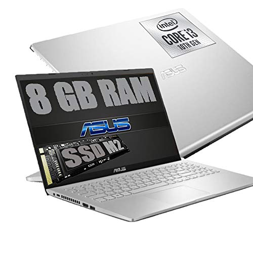 Notebook Asus Silver Portatile Pc Display FHD 15.6  Cpu Intel i3-1005G1 3,4ghz  Ram 8Gb DDR4  SSD M2 256GB  HD Graphics UHD  Hdmi Wifi Bluetooth  Windows 10  open office  Mouse Wifi