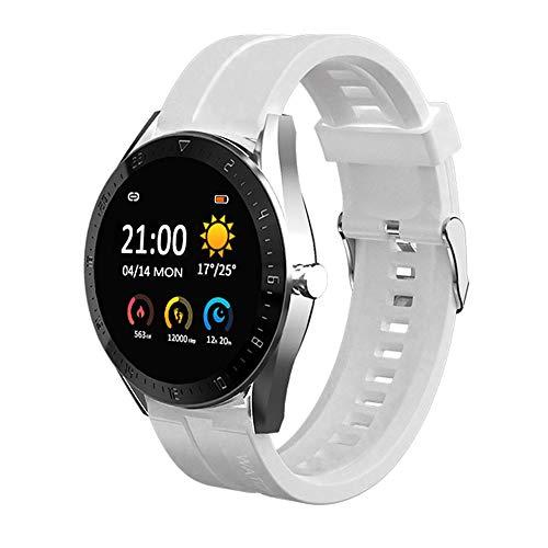 Smartwatch, Reloj Inteligente Reloj de Mujer, Pulsera Actividad con Monitor de Sueño Contador, Pulsómetro, Cronómetros, Calorías Podómetro, Fotografía Remota(Blanco)