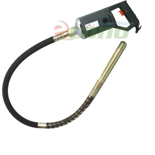 """1. 5hp electric hand held high speed concrete vibrator w/60"""" x 35mm shaft needle"""