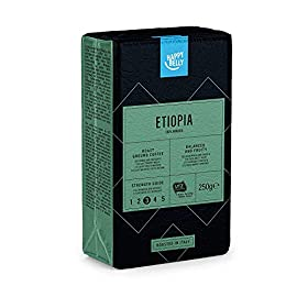 "Amazon Brand – Happy Belly Ground Coffee ""ETIOPIA"" (4 x 250g)"